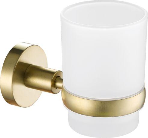 Just Taps VOS Brushed Brass Tumbler Holder