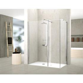 Novellini Kuadra HL Shower Panel with Fixed Deflector