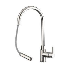 Just Taps Zecca Single Lever Sink Mixer With PULLOUT Spout, Swivel Spout