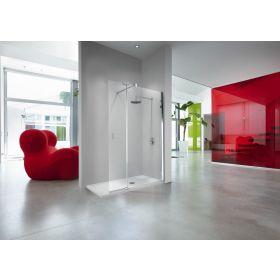 Novellini Kuadra H2 Wetroom Panel with Hinged Deflector