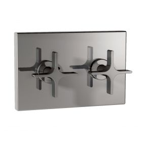 Just Taps Waterblade Concealed Stop Valves On Single Plate