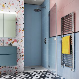 Crosswater Shower Enclosures Design 8 Silver Hinged Door 900mm Left
