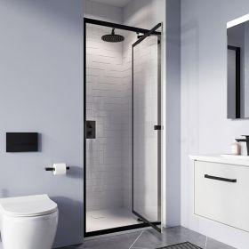 Crosswater Shower Enclosures Clear 6 Matt Black Infold Door 800mm