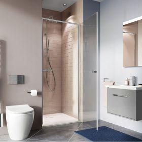 Crosswater Shower Enclosures Clear 6 Silver Hinged Door 900mm
