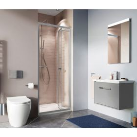 Crosswater Shower Enclosures Clear 6 Silver Bi-fold Door 800mm