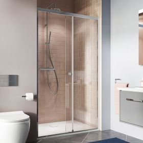 Crosswater Shower Enclosures Clear 6 Silver Side Panel 1000mm