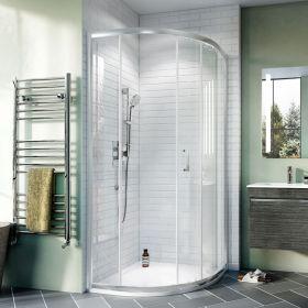 Crosswater Shower Enclosures Kai 6 Offset Quadrant Single Door 1000 x 800mm