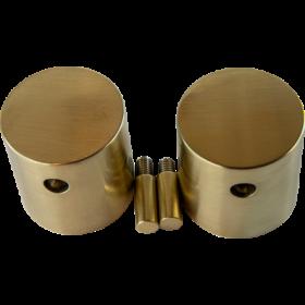 Crosswater MPRO Crossbox Handles (pair) Brass