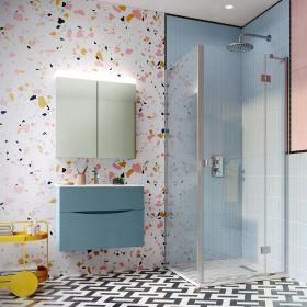Crosswater Shower Enclosures Design 8 Silver Side Panel 760mm