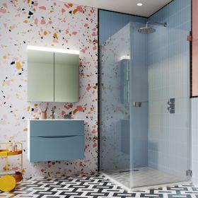 Crosswater Shower Enclosures Design 8 Silver Side Panel 800mm