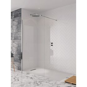 Crosswater Shower Enclosures Design 8 Silver Side Panel 1200mm