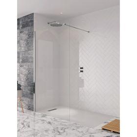 Crosswater Shower Enclosures Design 8 Silver Side Panel 1400mm