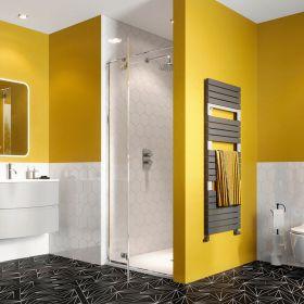 Crosswater Shower Enclosures Svelte 8 Hinged Door with Inline Panel 900mm