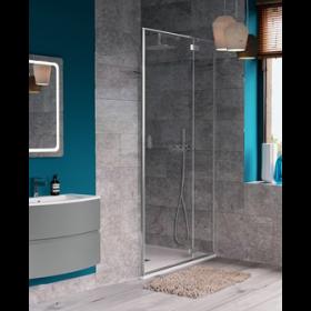 Crosswater Shower Enclosures Svelte 8 Hinged Door with 2 Inline Panels (Recess Only) 1400mm