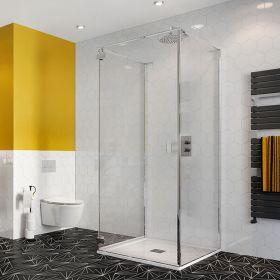 Crosswater Shower Enclosures Svelte 8 Three Sided Hinged Door 900mm