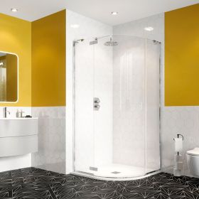 Crosswater Shower Enclosures Svelte 8 Offset Quadrant Single Door 1000 x 800mm