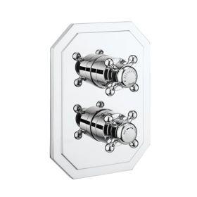 Crosswater Belgravia Chrome Crosshead Crossbox 2 Outlet Multi-flow Trim Set