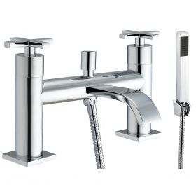 Just Taps Plus Detail Deck Mounted Bath Shower Mixer with Kit
