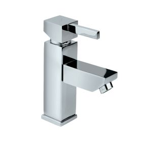 Just Taps Square Mini Single Lever Basin Mixer Without Pop Up Waste