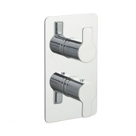 Just Taps Amore Thermostatic Concealed 2 Outlets Shower Valve