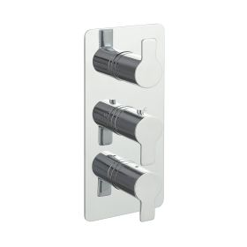 Just Taps Amore Thermostatic Concealed 3 Outlets Shower Valve