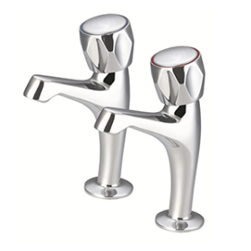Just Taps Astra High Rise Sink Taps Lever Handle