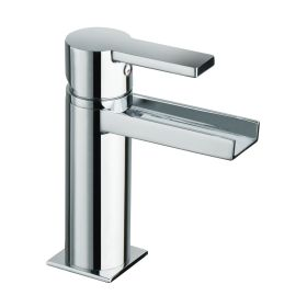 Just Taps Italia 150 Open Spout Single Lever Basin Mixer Without Pop Up Waste