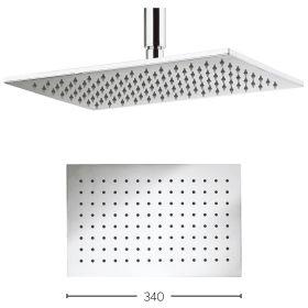 Crosswater Square Zion 340mm Shower Head