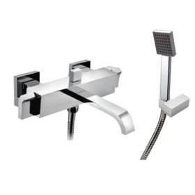 Just Taps Leo Wall Mounted Bath Shower Mixer With Kit