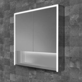 HIB Verve Mirrored LED Cabinet 80cm x 90cm x 15cm