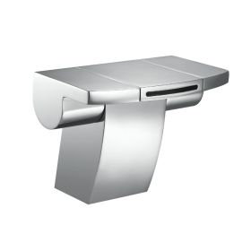 Just Taps Flow Monoblock Basin Mixer With Click Clack Waste