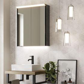 HIB Dusk Mirrored LED Cabinet 50cm x 70cm x 12cm