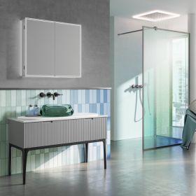 HIB Isoe Bathroom LED Cabinets 50cm x 70cm x 12.2cm