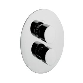 Just Taps Ovaline Concealed Single Outlet Thermostatic Shower Valve