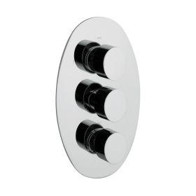 Just Taps Ovaline Thermostatic Concealed 2 Outlets Shower Valve, Vertical