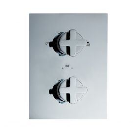 Just Taps Antler Thermostatic Concealed 2 Outlets Shower Valve