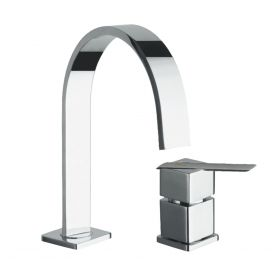 Just taps Ki-Tech 2 Hole Basin Mixer Without Pop Up Waste
