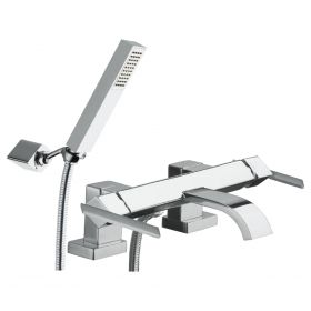 Just Taps Ki-Tech Deck Mounted Bath And Shower Mixer With Kit