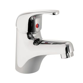 Just Taps Topmix single lever basin mixer with click clack waste