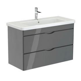 Saneux INDIGO 2-drawer unit gloss grey for 100cm basin