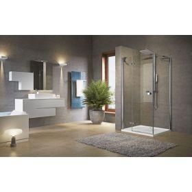 Novellini Brera G+F Hinged + Fixed Inline Shower Enclosure