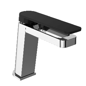 Just Taps AXEL Chrome & Matt Black single lever basin mixer