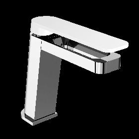 Just Taps AXEL Chrome & Matt White Single Lever Basin Mixer