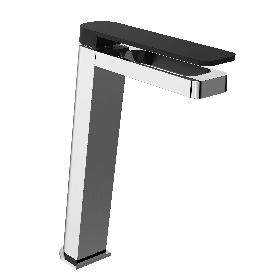 Just Taps AXEL Chrome & Matt Black Single Lever Tall Basin Mixer