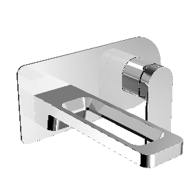 Just Taps AXEL Chrome single lever wall mounted basin mixer
