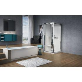 Novellini Glax 2P120x80 Thermostatic Sliding Shower Enclosure