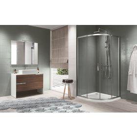 Novellini Zephyros R Double Door Offset Quadrant Shower Enclosure