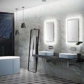 HIB Element Illuminated Bathroom Mirror 70 x 50cm