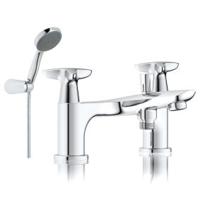 Just taps Plus Space Deck Mounted Bath Shower Mixer With Kit