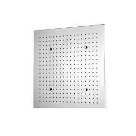 Just Taps Aquamist square ceiling mounted overhead shower with mist function, 380mm
